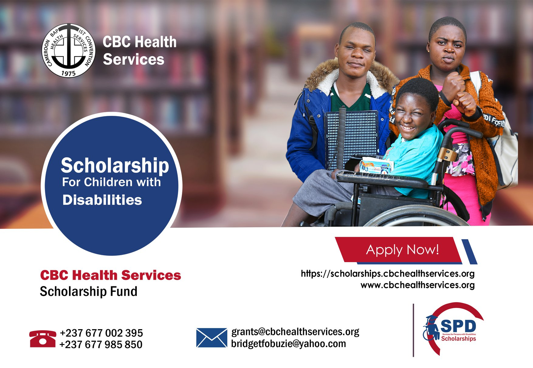 CBCHS Launches Scholarship for Children with Disability