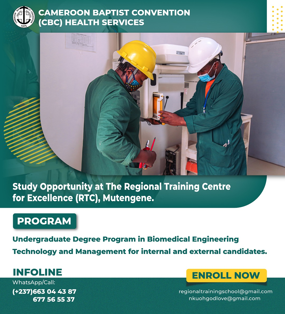 Study Opportunity at CBCHS Regional Training Centre For Excellence