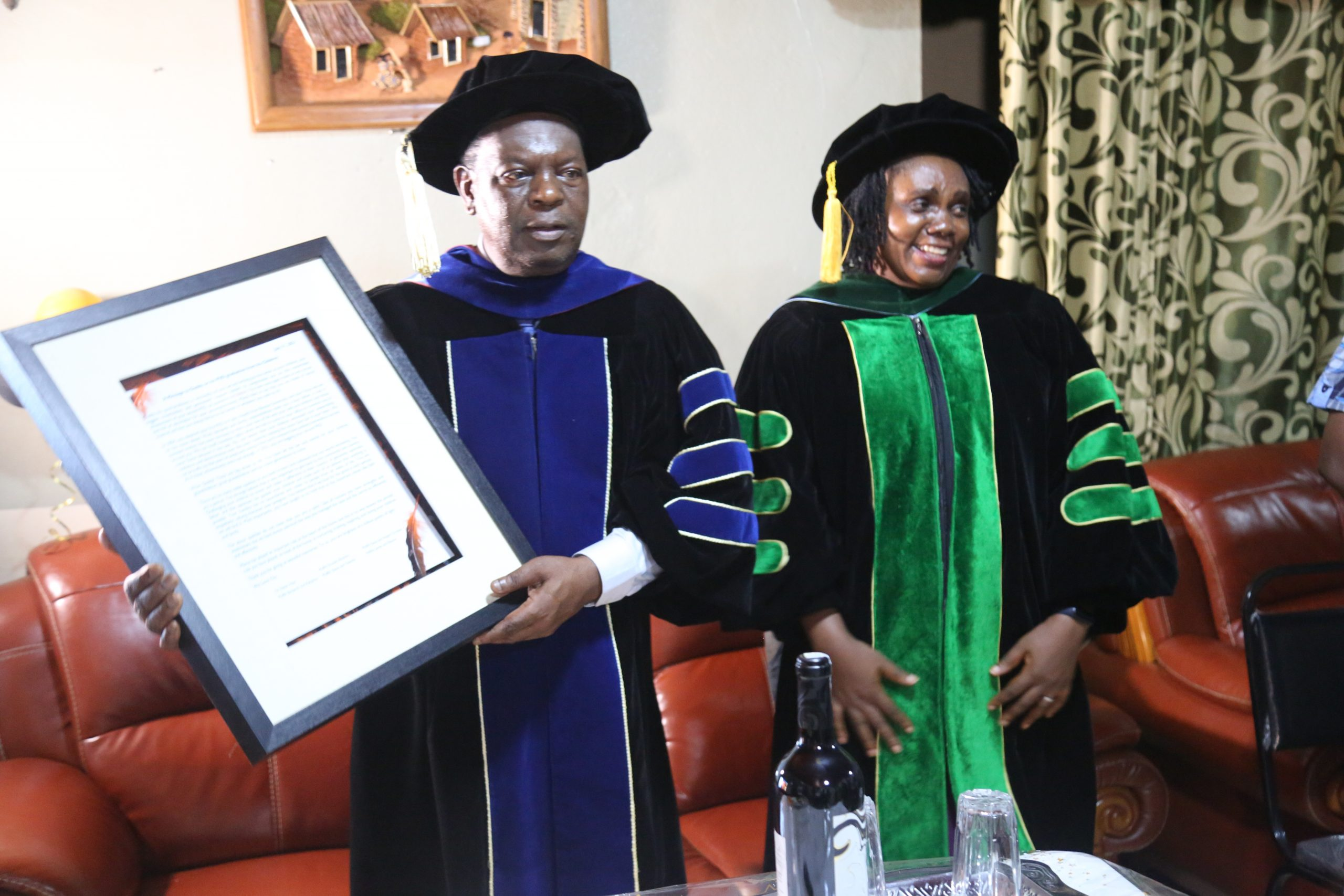 Prof Tih obtains a second Ph.D., with Dr. Mboh joining this rank in Public Health