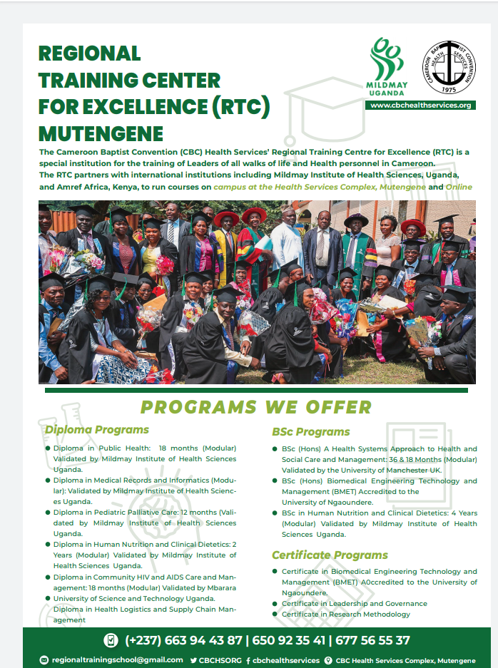 More about Regional Training Centre For Excellence (RTC) Mutengene
